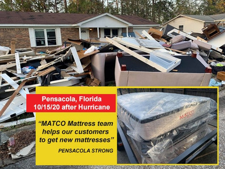 Our team helps our customers to get new mattresses after Hurricane