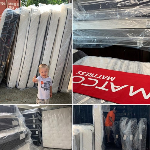 We just unload the truck & we have new mattresses in stock.