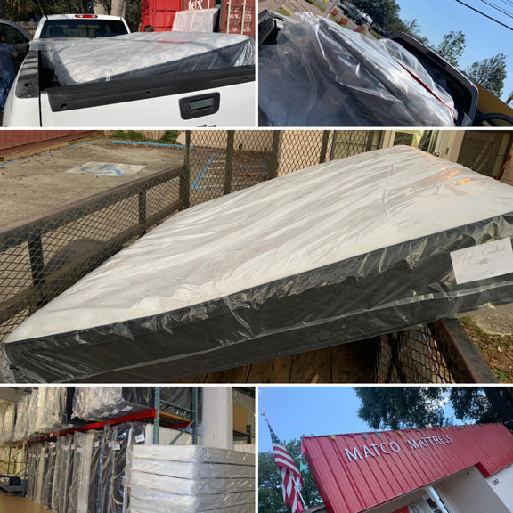 Mattresses and beds are ready to go to our customers in Pensacola, Florida!