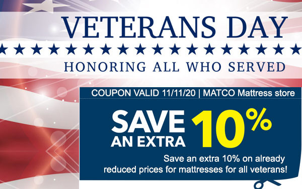 Extra 10% OFF for all Veterans on Veterans Day 2020
