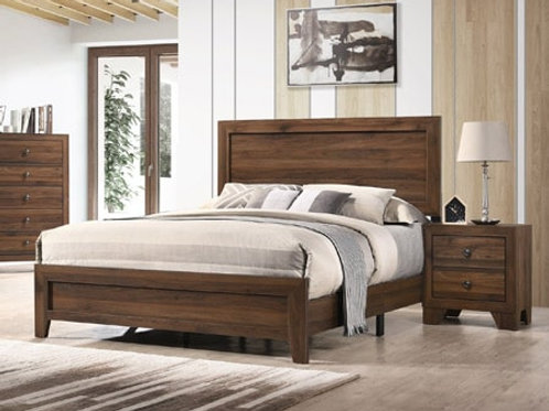Wood Bed LEMN70 Contemporary style