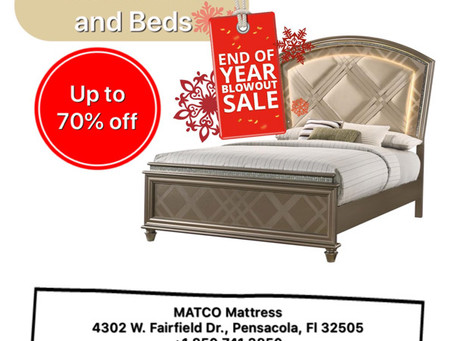 New Year Mattress & Beds Sale in Pensacola!
