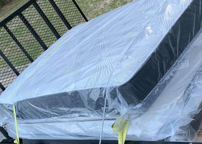 Queen mattress size with gel in trailer