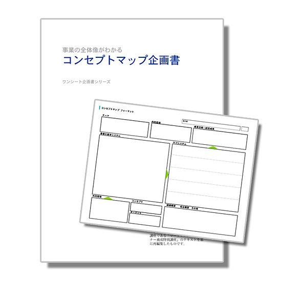 事業の全体がわかる コンセプトマップ企画書