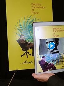"Yetzer Studio - Nikola Tesla AR ""Bio"" poster"