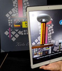 "Yetzer Studio - Nikola Tesla AR ""Vector"" poster"