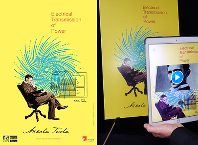 Yetzer Studio - Nikola Tesla AR Poster