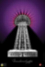"""Yetzer Studio - Nikola Tesla AR """"Wardenclyffe"""" poster"""