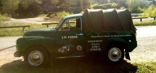 J H Evans Morris Minor & Classic car res