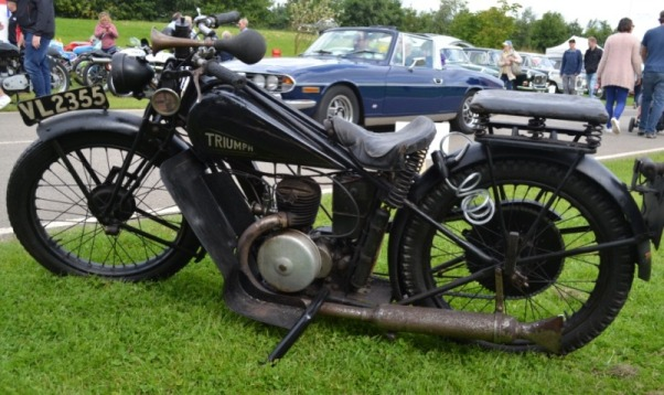 Triumph motorcycle at Croft