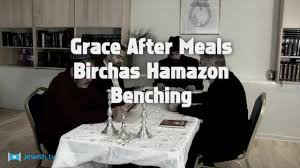 Say Birkat Hamazon after you eat