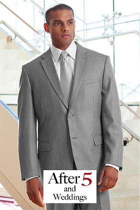 2-Button Light Gray Suit