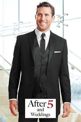 2-Button Slim Black Tuxedo