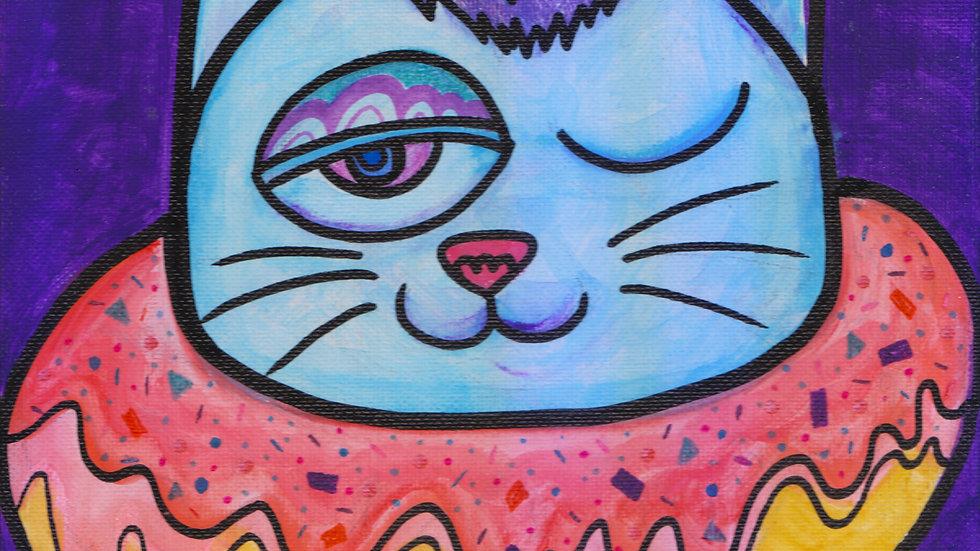 Cheeky Donut Cat - i am may
