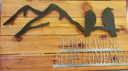 Two Raven Soap Company Sign