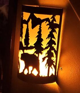 BEAR AND TREE WALL SCONCE