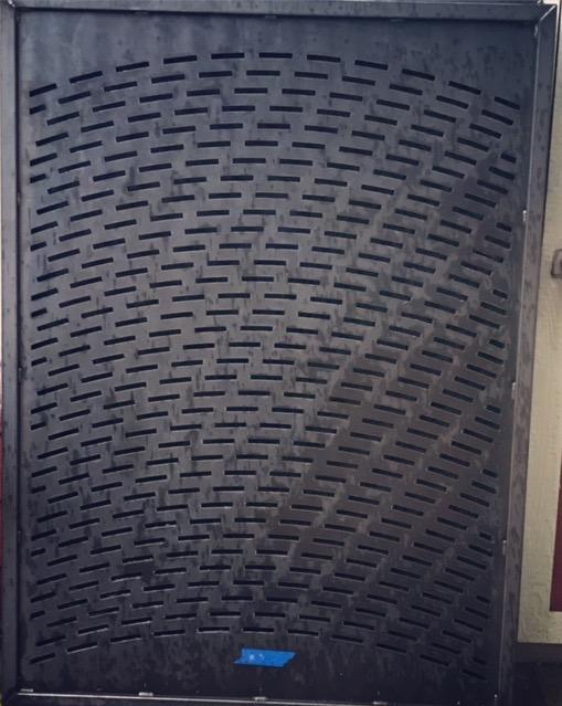 Arched slit panel