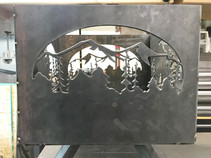 Mountain Side Panel for Fire Pit
