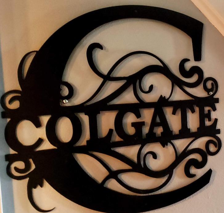 Colgate Family Sign