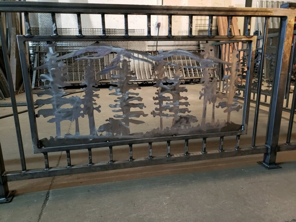 Panel in Deck Railing