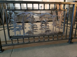 Railing with Privacy Panel