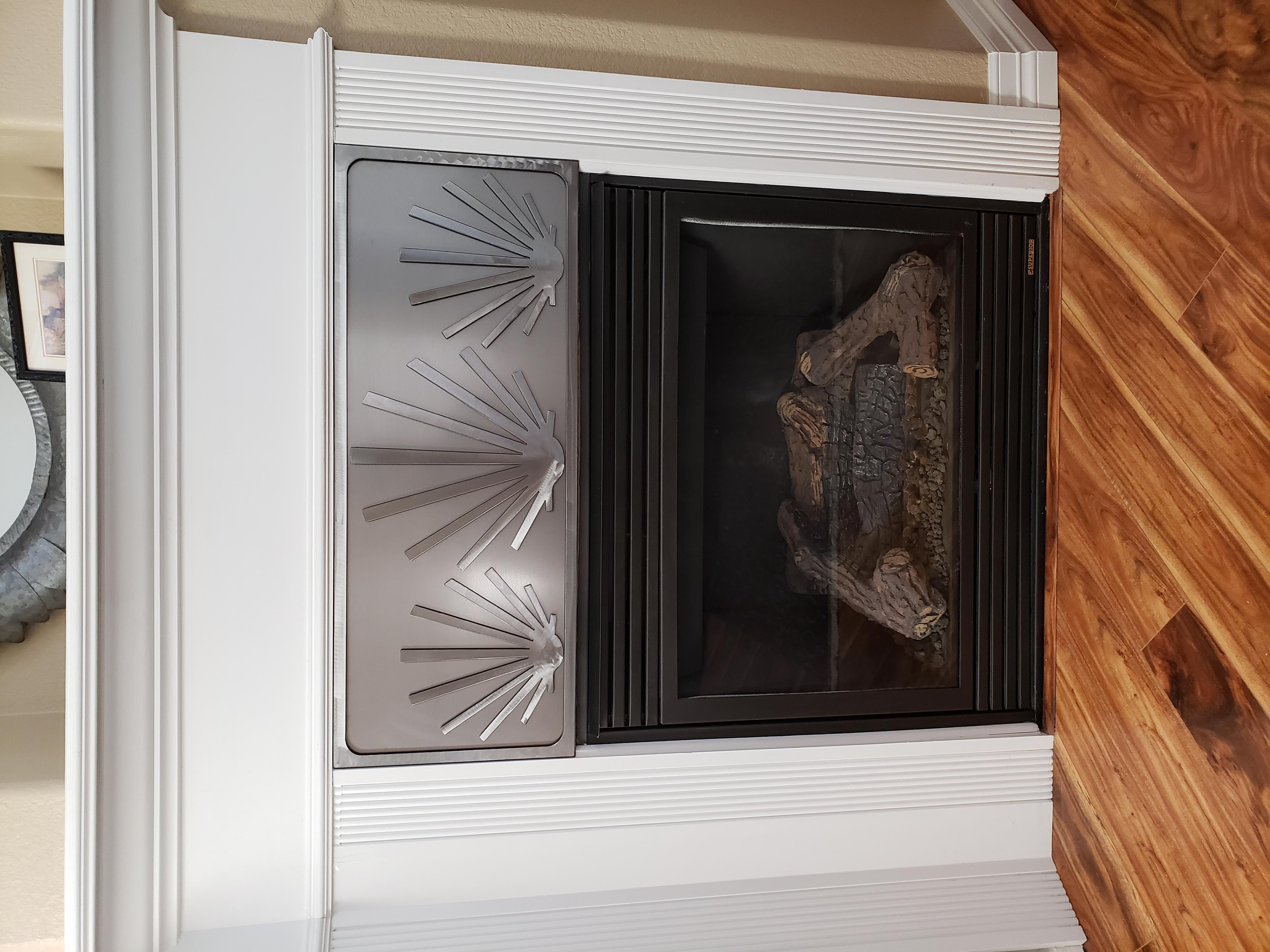CUSTOM FIRE PLACE COVER