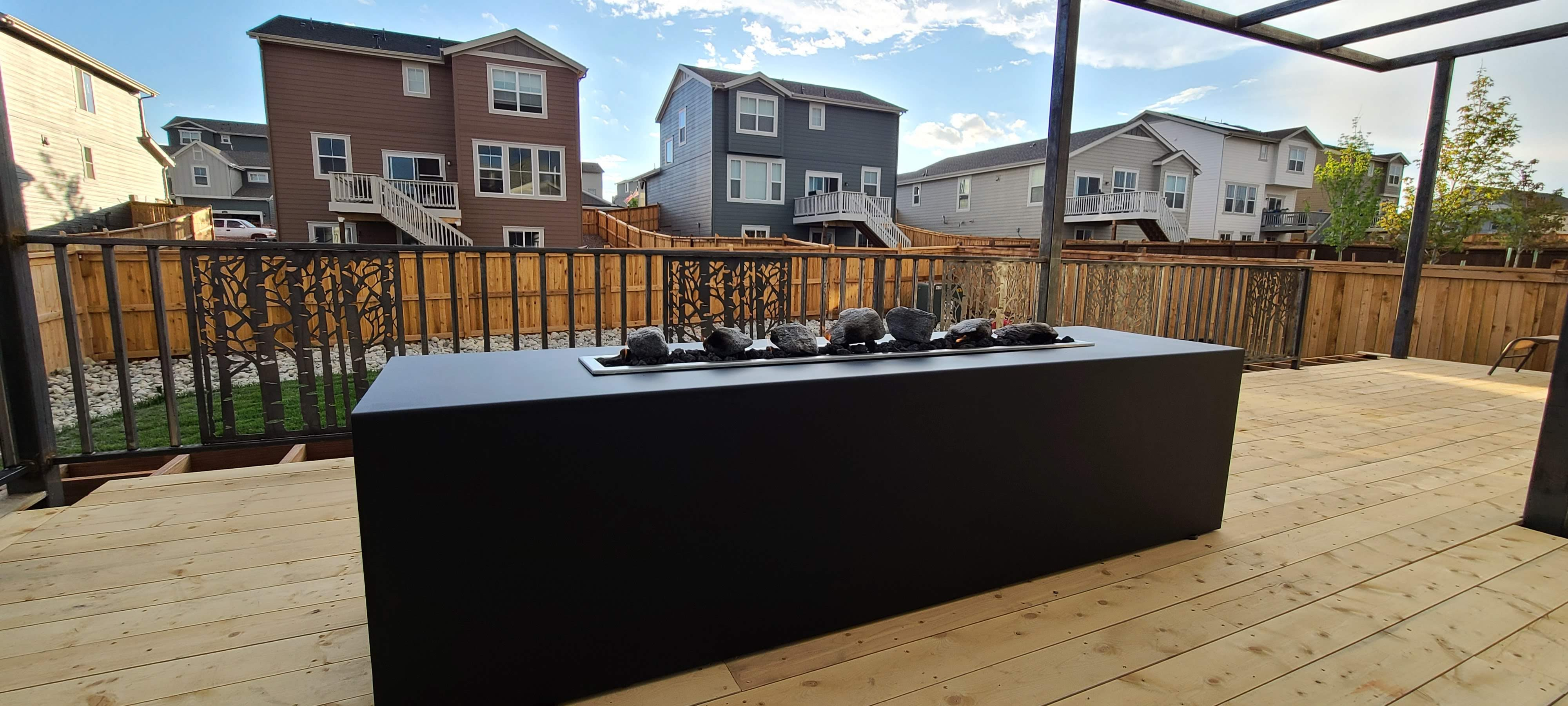 Fire Pit with railing