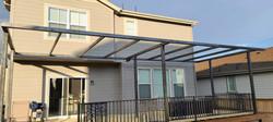 Pergola with railing and panel