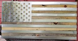 AMERICAN FLAG ON BEETLE KILL