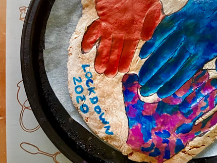 MAKE: Lockdown Handprint Plaque