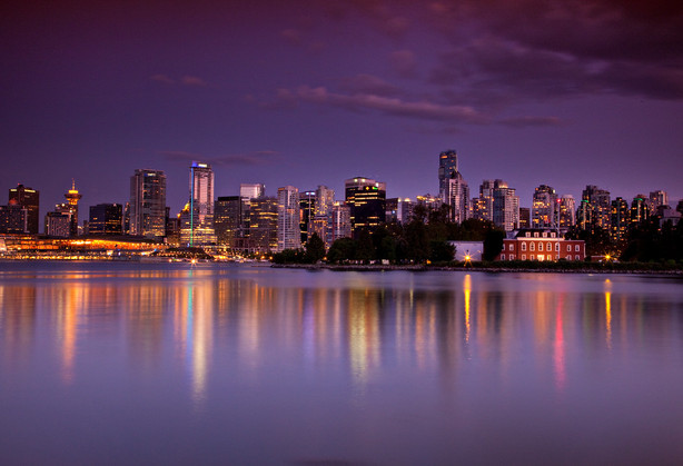 Evening photographer of Vancouver by award winning photographer Justin Lam of Three Sixty Media