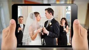 Live broadcast of wedding on ipad