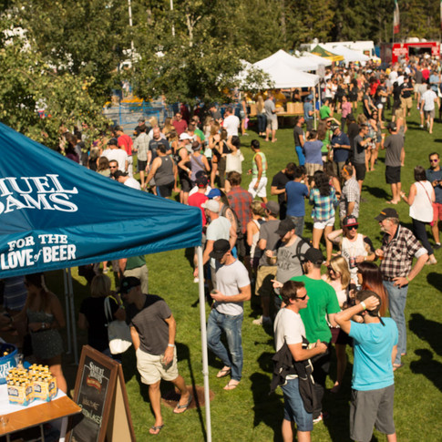 Sam Adams event Whistler Village Beer Festival