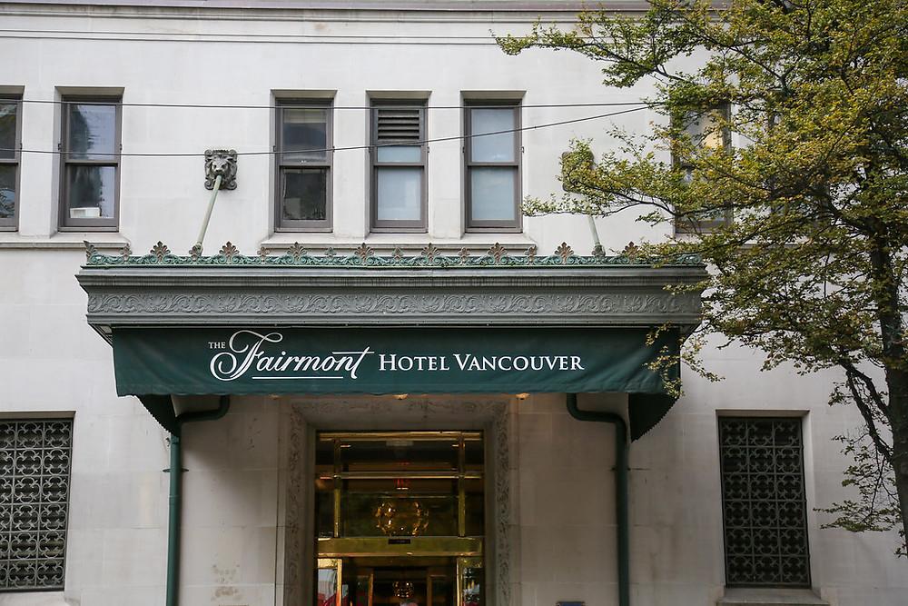 Exterior Fairmont Hotel Vancouver photography
