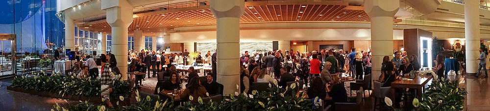 Panoramic photo of banquet space at the Pan Pacific Hotel in Vancouver taken by award winning photographer Justin Lam of Three Sixty media