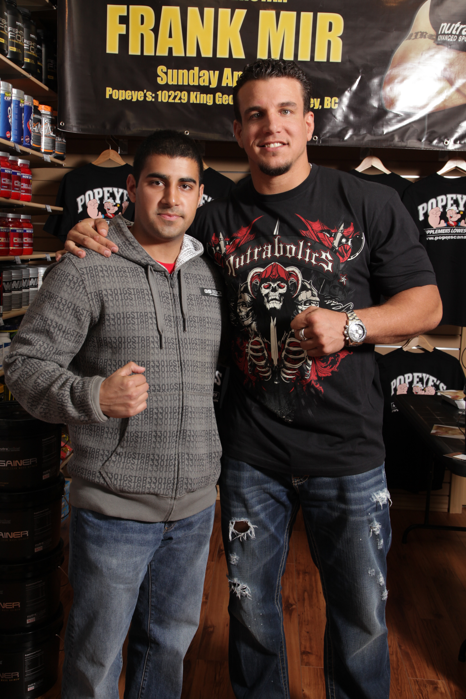 UFC Frank Mir Step and Repeat