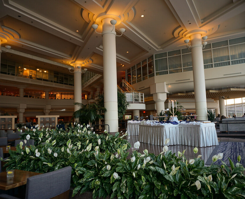 Inside the Pan Pacific conference space where evening canapes and dinner can be served