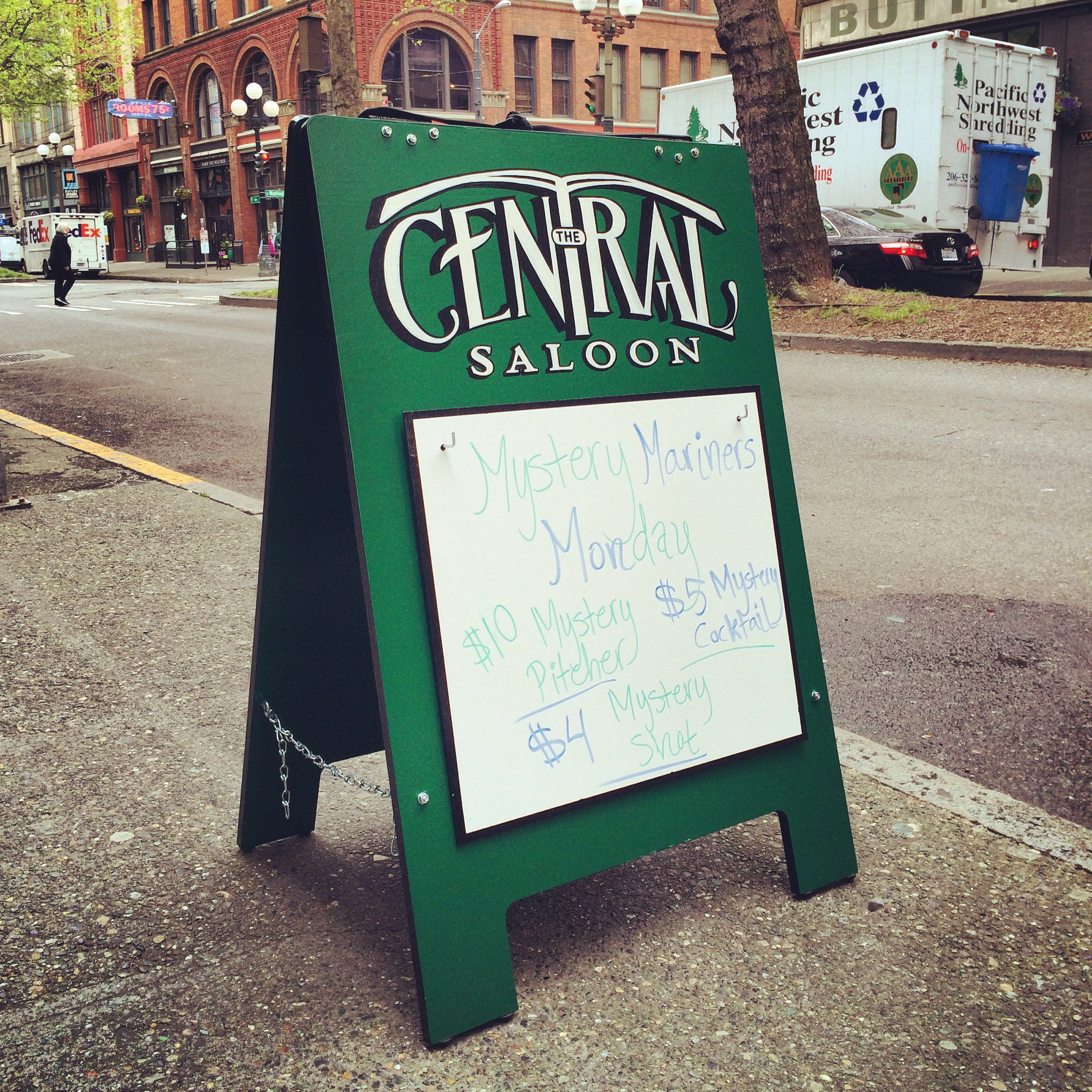 Central Saloon Sidewalk Sign