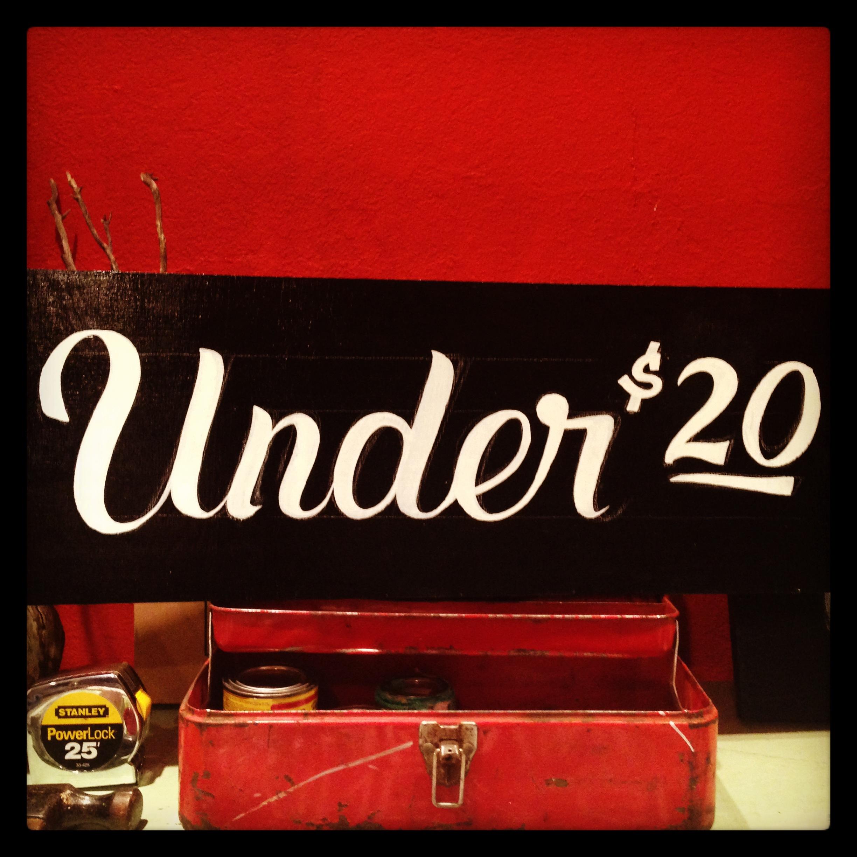 Under 20$