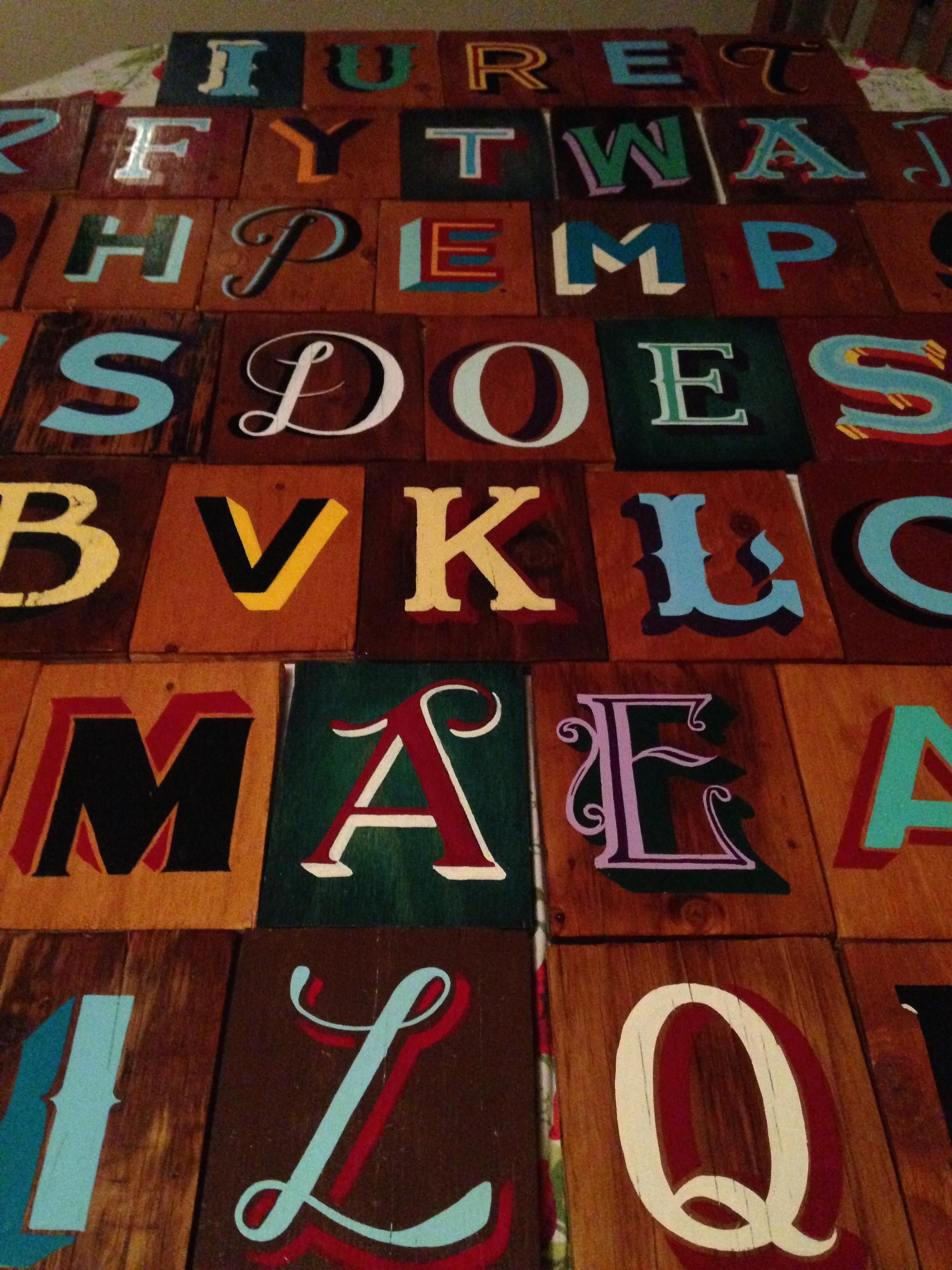 Custom Letter Magnets