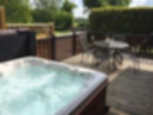 Hollybrook Lodge hot tub
