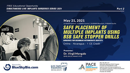 Safe placement of multiple implants using BSB safe stopper drills, surgeries for Beginners-Intermediate dentists.