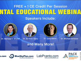 FREE Educational Webinars with Dr. Scott Ganz, Dr. Cory Glenn and Many Others (1CE. No Cost)