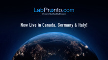 LabPronto is Expanding Internationally! Now Live in Canada, Italy and Germany!