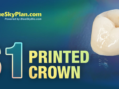 Create a Temporary or Permanent Crown For $1 with BlueSkyPlan