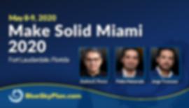 Blue Sky Plan Live Course -  Make Solid Miami 2020