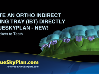 Create an Ortho Indirect Bonding Tray (IBT) Directly in BlueSkyPlan - New! Align Brackets to Teeth