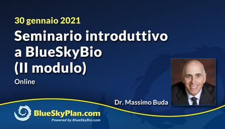 Seminario introduttivo a BlueSkyBio (II modulo)
