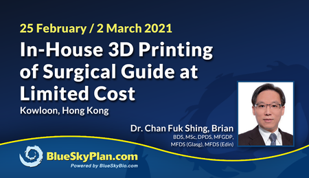 In-House 3D Printing of Surgical Guide at Limited Cost
