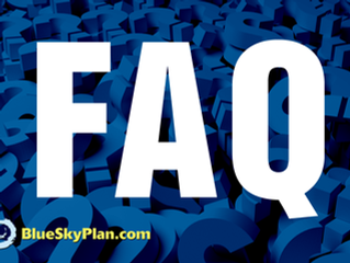 Blue Sky Plan's Frequently Asked Questions